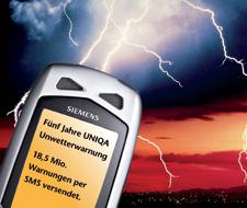 uniqa konzernbericht 2009 uniqa qualitätspartnerschaft  uniqa erweitert unwetterwarnservice um hochwasserinformationen per sms #5